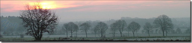 Abendstimmung im Winter; (c) Yvonne Hock