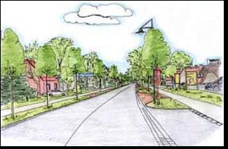 Aus dem Konzept der Dorferneuerung: Rückbau der B75 in der Ortsdurchfahrt Dibbersen©Stadt Buchholz in der Nordheide
